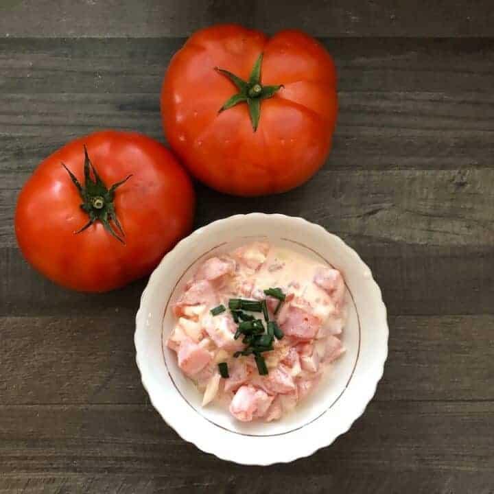 Pomidory Ze Śmietaną- Polish Creamy Tomato Salad Recipe