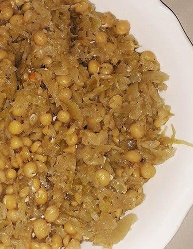 My Grandma's Polish Kapusta z Grochem Recipe (Kapusta With Split Peas)