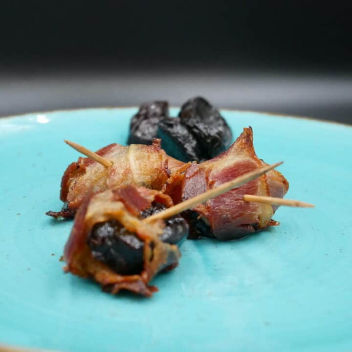 Prunes Wrapped In Bacon
