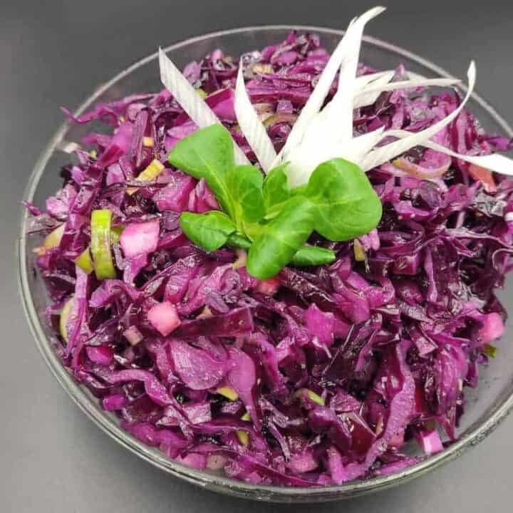 Polish Red Cabbage Salad Recipe