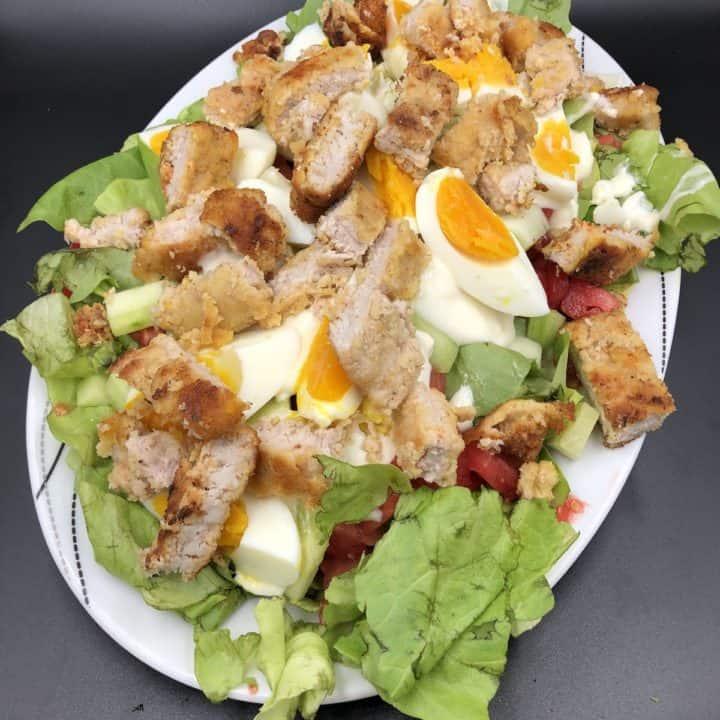 Leftover Fried Chicken Salad Recipe