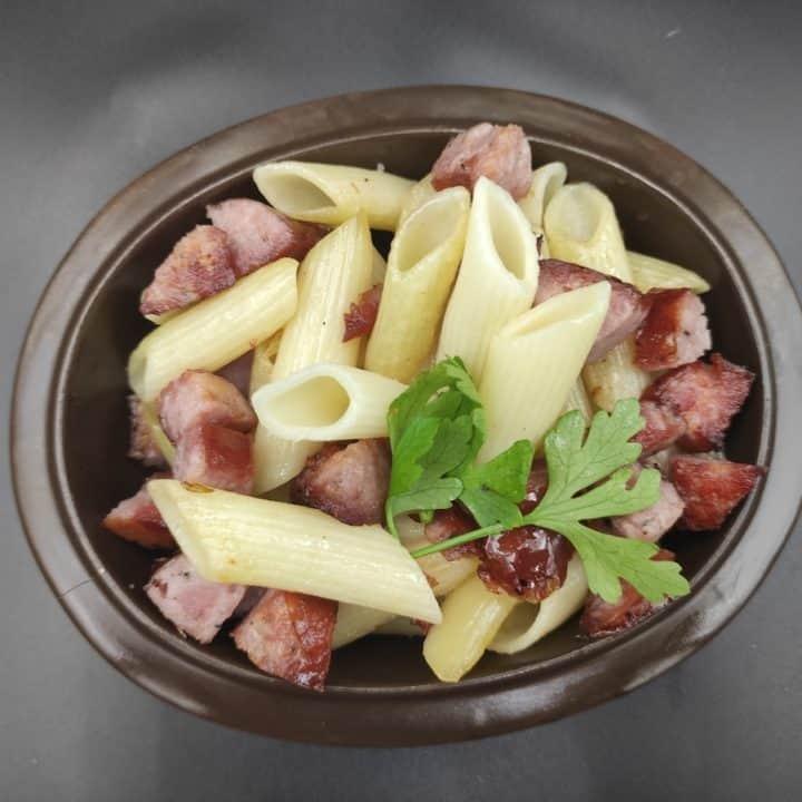 Makaron Z Kielbasa Polish Sausage Pasta Recipe