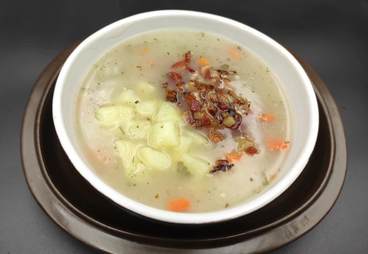 zalewajka soup in a bowl.