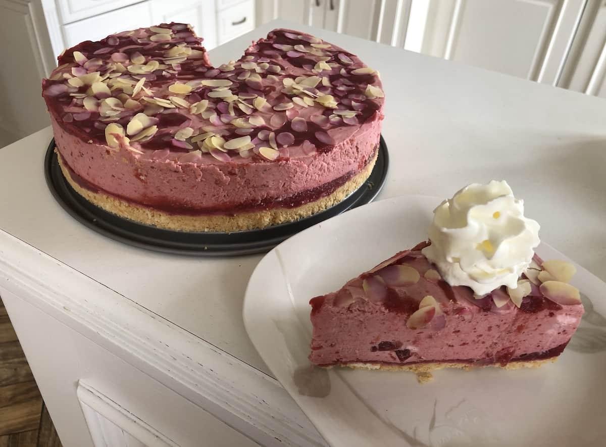 No bake plum cake.