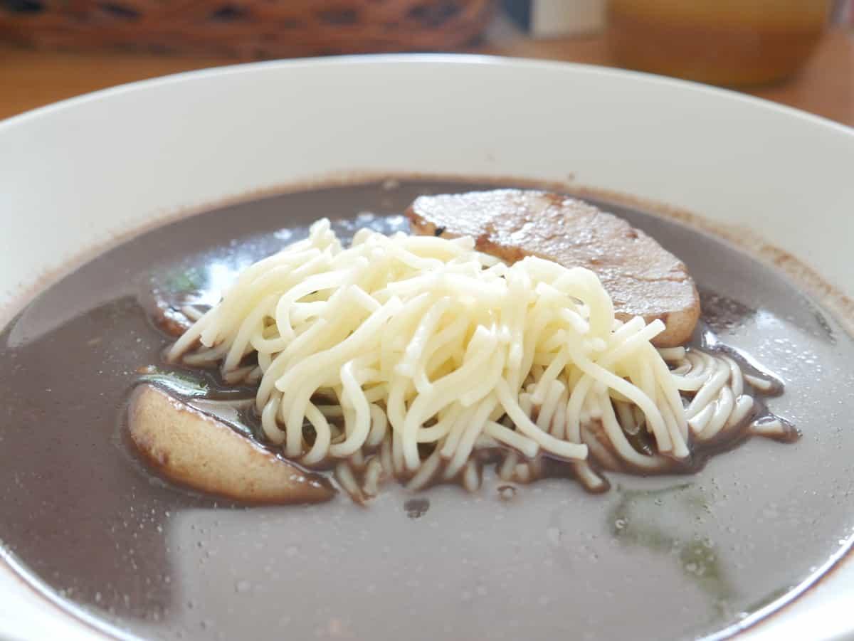 Duck blood soup.